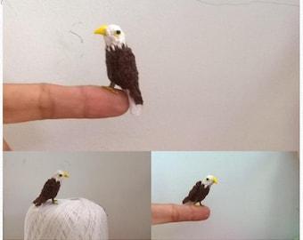 Mini Bald Eagle Pattern, miniature amigurumi, animals crochet - PDF INSTANT DOWNLOAD