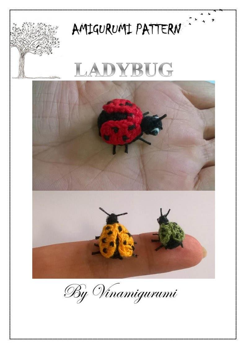 Mini Ladybug Pattern miniature amigurumi animals crochet  image 0