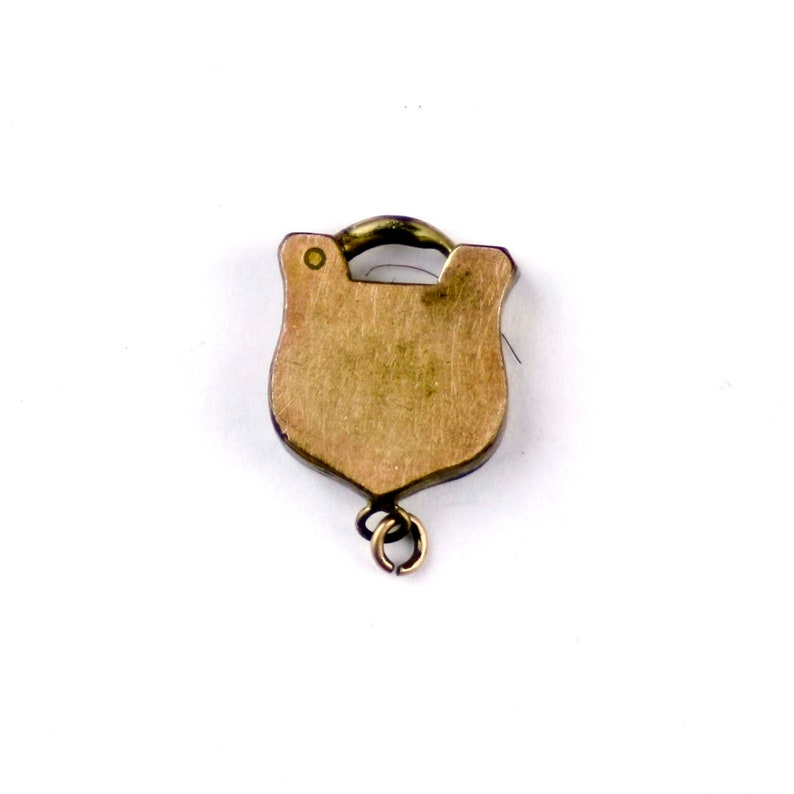 Antique Victorian Gold Filled Charm Bracelet Padlock Clasp