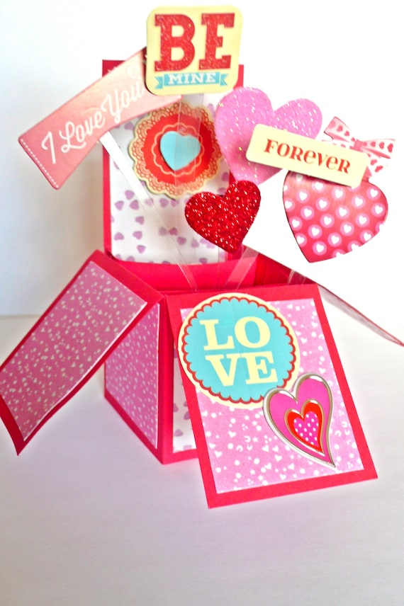Valentines Card For Husband Valentine Day 3d Pop Up Card Etsy