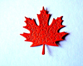 Maple Leaf die cuts, Autumn leaves, Thanksgiving decor, Fall leaf, paper leaves, die cut, autumn, Embossed Maple leaves, Fall leaves die cut