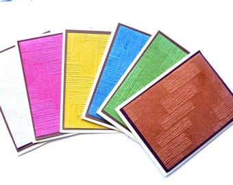 Blank cards set, Embossed Notecards, Notecards set, handmade cards, Embossed Cards Set, All occasion cards, Blank Cards, Boxed embossed card