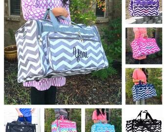 Chevron DUFFLE Bag, Personalized Overnight Bag, Monogrammed Duffle Bag,  Women Duffle Bag, Girls Overnight Bag, Hospital Bag, Weekender Bag 489121eee2