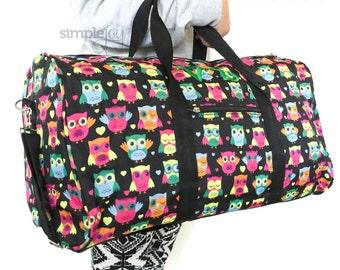 2fff347a9d8 OWL DUFFLE Bag, Girls Duffle Bag, Girls Overnight Bag, Owl Overnight Bag, Owl  Carry On Bag, Carry on Luggage, Girls Luggage, Women Duffle