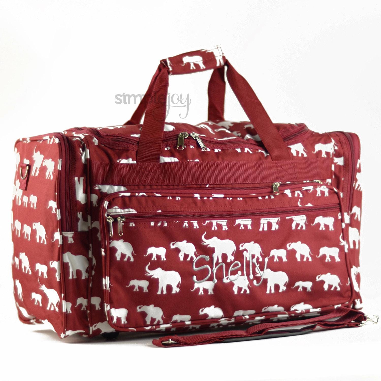 3264ee451d Crimson Duffle Bag Gray Elephant Bag Elephant DUFFLE Bag
