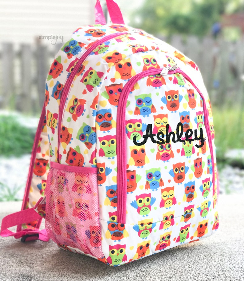 1bc80bd27 2 colores buho mochila mochila rosa Multicolor mochila | Etsy