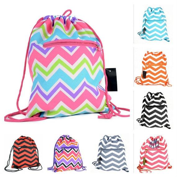 5983f996eb Orange White Drawstring Backpack Drawstring Bag Gym