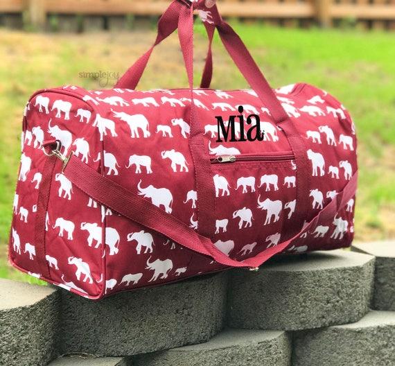 84ebf6ff79 2 colors 22 Elephant DUFFLE Bag Crimson Duffle Bag