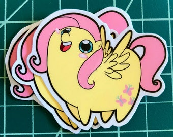 Pony Chubs! Fluttershy Sticker