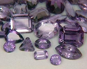 Premium Loose Random Mixed 2mm to 9X7mm Mixed Faceted Amethyst Gemstones (1octw) Parcel Lot ~ BUY 2 GET 1 FREE #1216.10