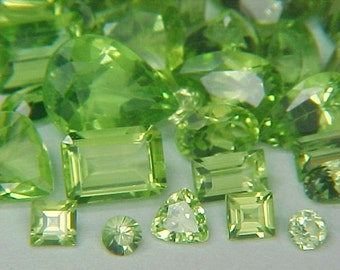 Premium Loose Random Mixed 2mm to 9X7mm Mixed Faceted Peridot Gemstones (5ctw) Parcel Lot ~BUY 2 GET 1 FREE#1300.5