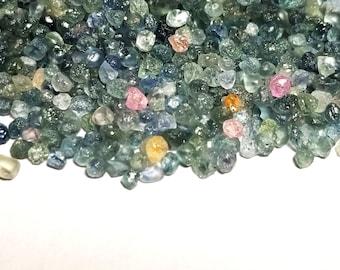 Genuine Montana Sapphire 2-4.5mm Mixed Color Rough Specimen Heated (40 Pcs) Parcel Lot ~ BUY 2 GET 1 FREE2