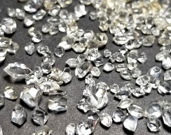 Herkimer Diamond Quartz Random Mixed Shape Water Clear 1x2mm to 6x4mm  (5ctw) Parcel Lot ~ BUY 2 GET 1 FREE