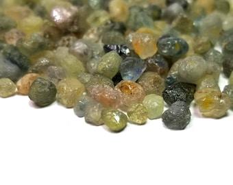 Genuine Montana Sapphire 4-6.5mm Mixed Color Rough Specimen (20 Pcs) Parcel Lot ~ BUY 2 GET 1 FREE