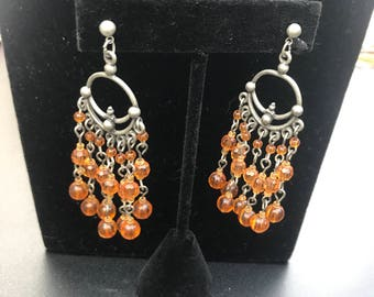 Ornate amber earring etsy vintage amber chandelier earrings vintage ornate earrings amber beaded earrings vintage dangle earrings aloadofball Image collections
