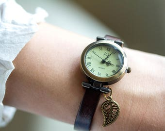 Personalized watch, Woman Watch, unique gifts, wrist watch, vintage watch, women watch, leather watch, watches for women, gift for her