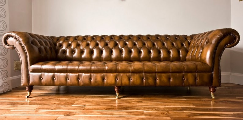 Handmade Traditional Antique Leather Belmont Chesterfield Sofa Etsy