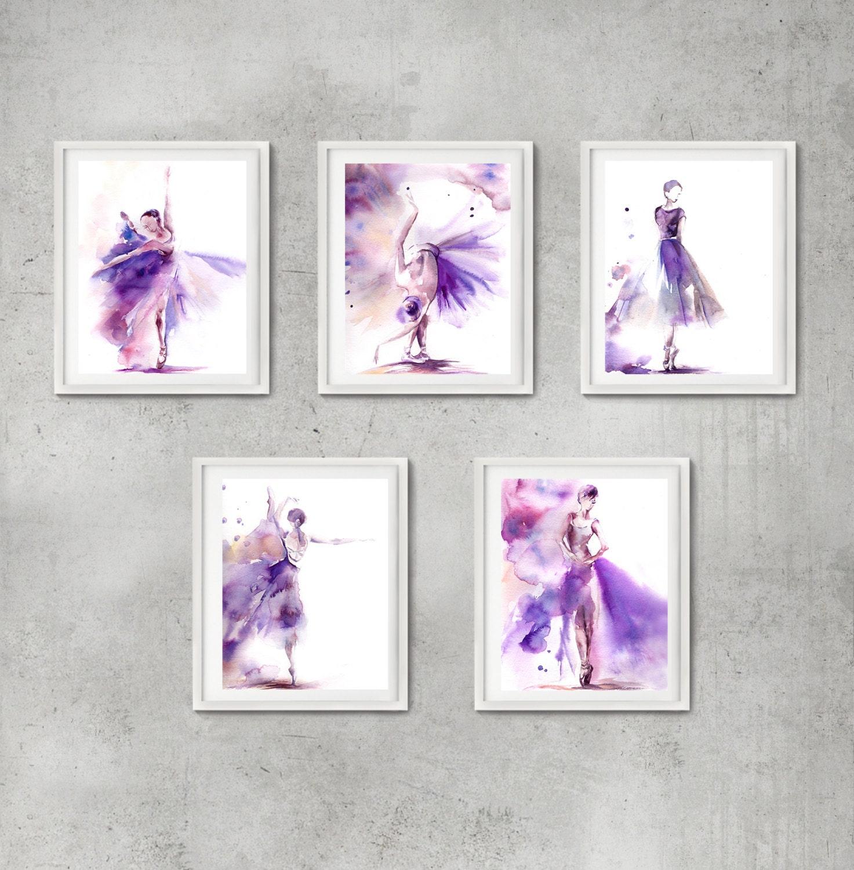 Ballett Kunst Drucke Set Set 5 Kunstdrucke Ballerina   Etsy