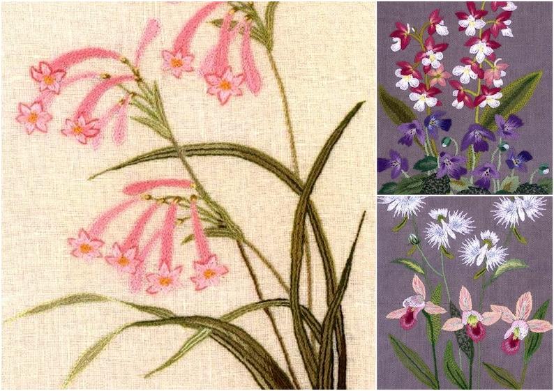 59 EMBROIDERY  FLOWER PATTERN-\u201c Wild Flower and Plant Stitch by Sadako Totsuka\u201d-Japanese Craft E-Book #483.Three Instant Download Pdf files.