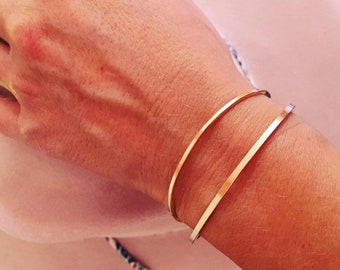 1.5mm gold-filled 12k gf bangle * square gold bracelet * narrow * must have 2021 * 12 carat golden bangles * gold filled jewelry arm candy