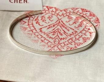 sterling silver bracelet elegant * thin sterling silver bangle