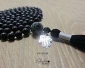 108 Black Onyx Mala Neckl...