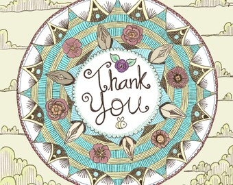 Thank You Mandala Card