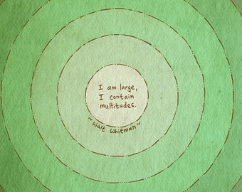 Walt Whitman inspirational quote art print - recycled paper