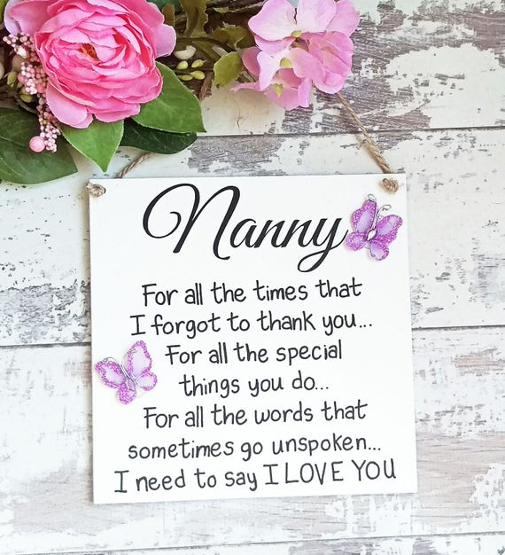Nanny Gift Gifts For Sign Birthday