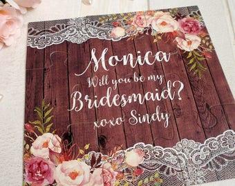 Will You be my Bridesmaid, Be my bridesmaid puzzle Invitation, Bridesmaid Gift, Bridesmaid Proposal, Maid of Honor Puzzle card
