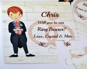 Be our Ring Bearer, Ring Bearer card, Will you be our Ring bearer, Ring bearer puzzle card, Page boy Proposal