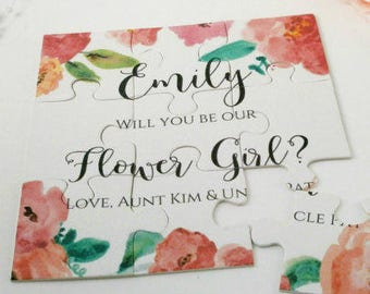 Bridesmaid  Proposal card Will you be my Bridesmaid Wedding Invitation Flower girl Maid of Honor Gift Puzzle Proposal Card