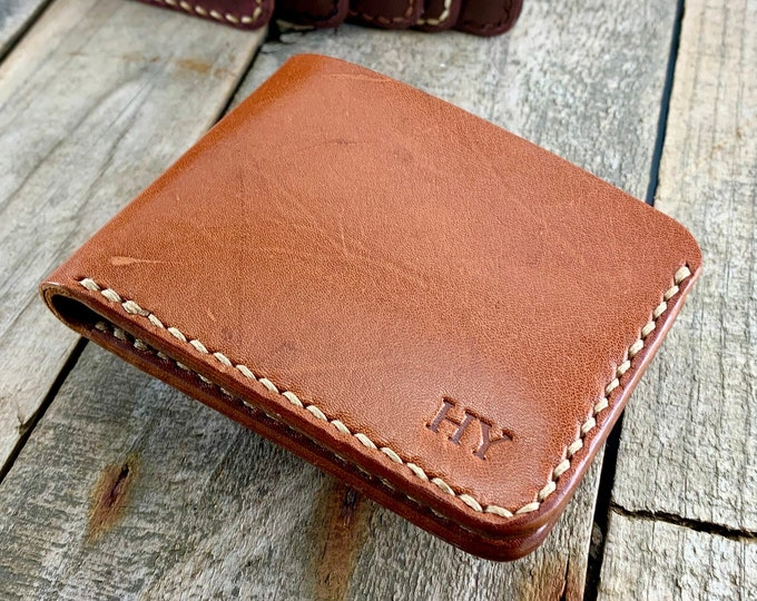 Kangaroo Leather Wallet, Personalized Leather Wallet, Leather Billfold Wallet, Leather Bi-Fold Wallet, Custom Leather Wallet, Gift For Men