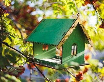 Bird feeder / bird house / wooden bird feeder / garden decoration / hanging bird feeder / hand crafted / wooden bird house / handmade