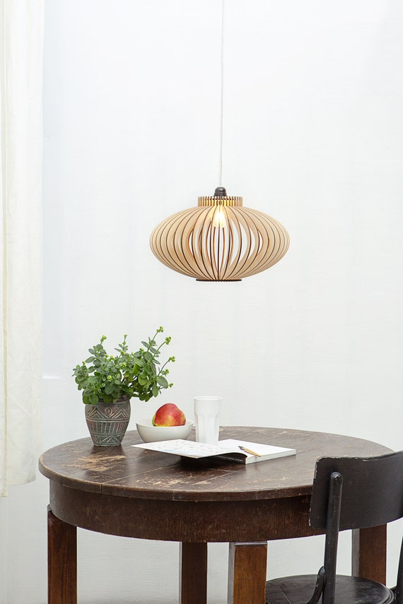 Scandinavian Style Wooden Pendant Lamp Wooden Ceiling Lighting Kitchen Lamp Dining Room Lamp London M