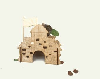 guinea pig house / hamster house / personalized house / play house / small animals house / house for mice / lab rat / hamster