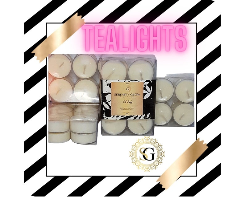 Tealights set 12 mix scents soy wax white candle vegan organic natural burner tropical flower fragranced hand poured
