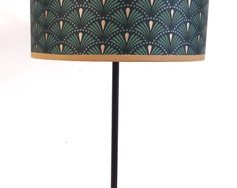 ABAT DAY green and gold art deco pattern