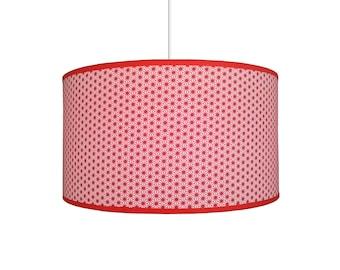 Stars lamp shade red Japanese