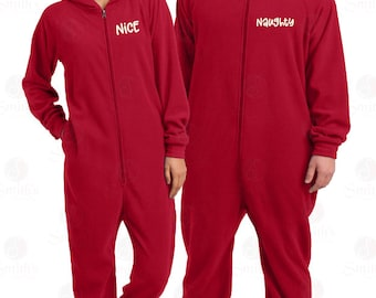 24161eac1d WHILE SUPPLIES LAST Naughty   Nice Matching Christmas Onesie