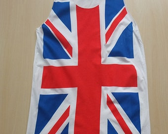 Uk British Union Jack Flag Punk Rock T-Shirt Vest Tank Top