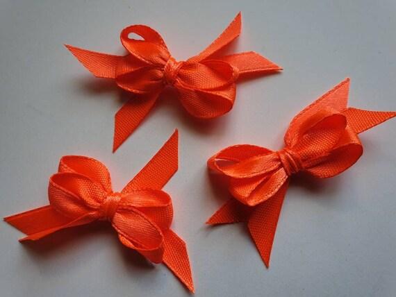 100 Mini Satin Ribbon Bows Gift Craft Card making Embellishment Scrapbooking Art