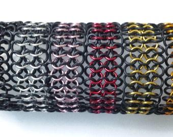 Custom Black Stretchy Chainmail Bracelet