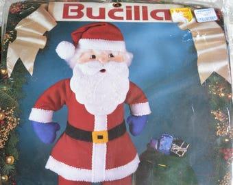 Vintage Bucilla Felt Jeweled Santa Doll Kit - Unopened # 83032