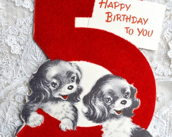 Five Year Old Birthday Card