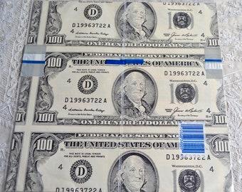 vintage dollar bills etsy