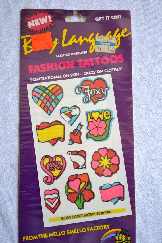 Vintage 80s Mello Smello Scented Scratch n Sniff Unicorn Sticker Tattoos Pack