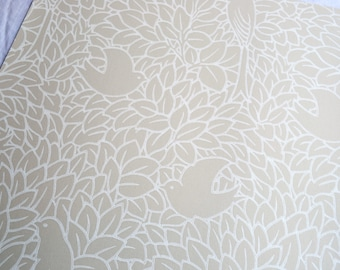 Wallpaper - Cole and Son  Sample Sheet  - 19 x 17  Dovedale Birds - Tan and White