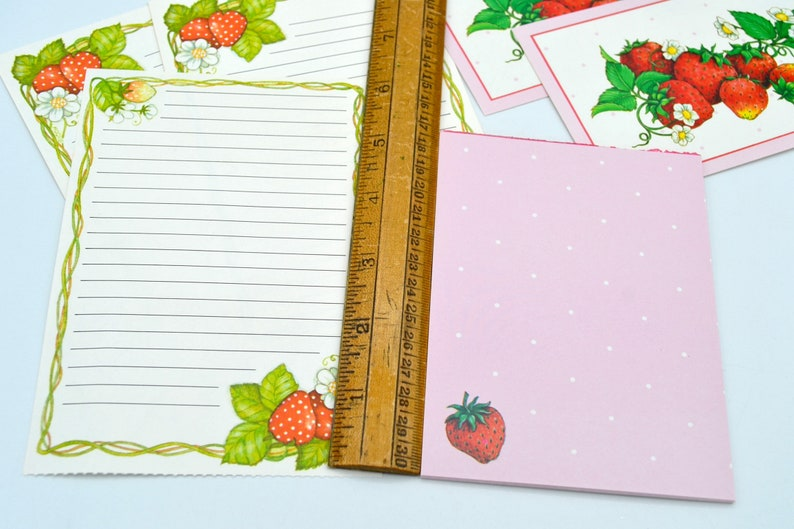 Vintage Stationery Pink Strawberry Lot 25 Pieces