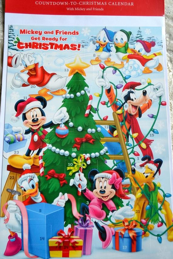 Vintage Advent Calendar Hallmark Disney Mickey Mouse and | Etsy